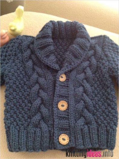 knit-baby-sweater-hand-knitted-grey-baby-cardigan-gray-baby-boy-394x525