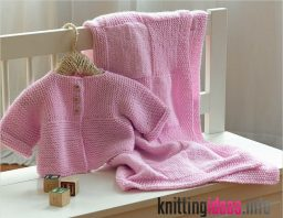 knitting-pattern-a5-easy-beginners-aran-baby-jacket-coat-blanket-hat-256x198