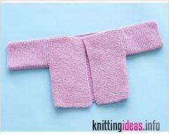 rectangle-garter-baby-cardigan-pattern-knit-lion-brand-yarn-241x191