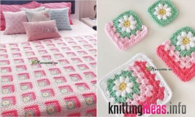 mitered-daisy-granny-blanket-free-pattern-your-crochet-387x233