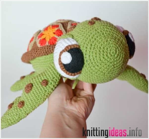 Crochet Turtle Amigurumi Toy Softies Free Patterns | 560x602