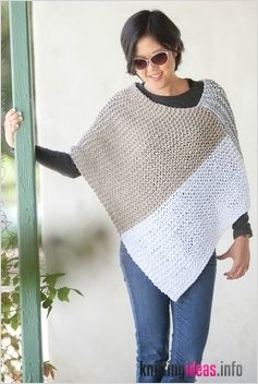 Two Piece Knit Poncho Pattern | DIY and crafts | Knitting