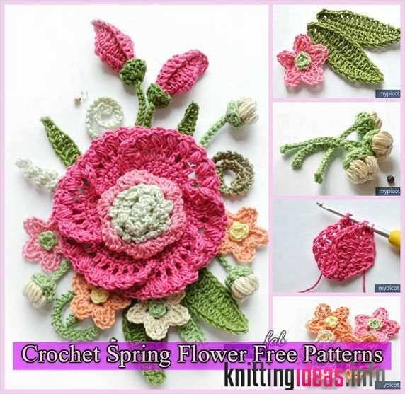 awesome-3d-crochet-spring-flower-free-patterns