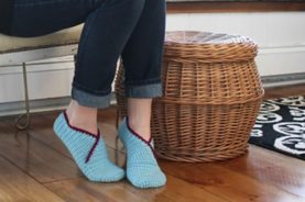 Origami-Slippers-Knitting-Pattern-10-277x184